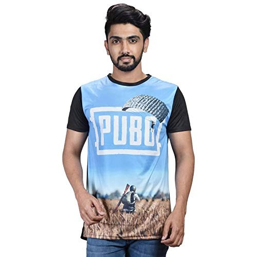 Confusinggg Mens Pubg Gaming Round Neck Regular Fit T-Shirt for pubg lovers