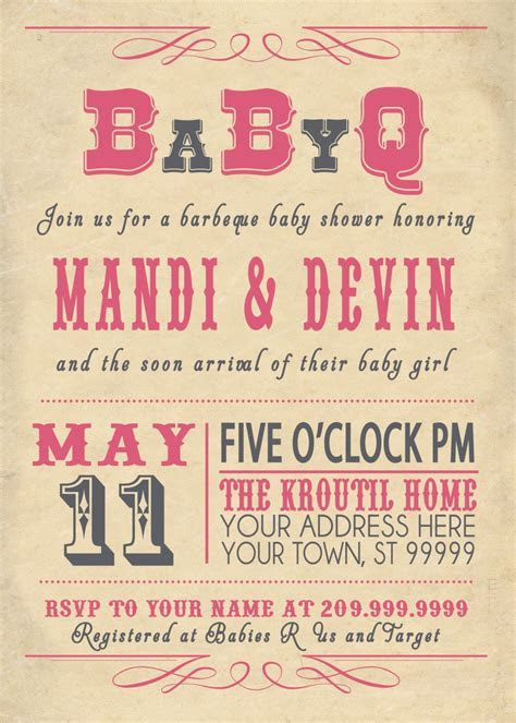 baby shower : Couples baby shower invitations   Card