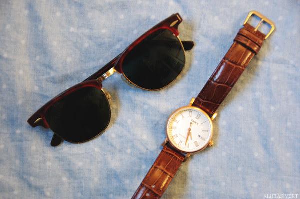 aliciasivert, alicia sivertsson, timex, clock, ray ban, sunglasses, clubmaster, solglasögon, klocka, ur, armbandsur