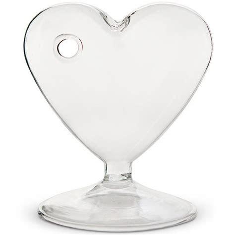 Glass Heart Shaped Vase   Confetti.co.uk