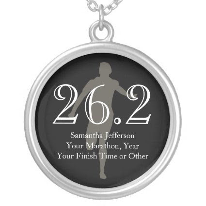 Personalized Marathon Runner 26.2 Keepsake Medal Personalized Necklace