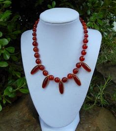 Red carnelian fashion necklace / Carnelian by NaulasJewelry, $65.00