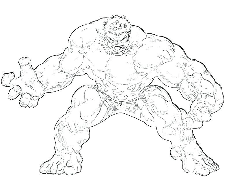 Hulk Smash Coloring Pages At Getcoloringscom Free Printable