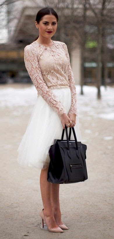 Celine handbag, Louboutin heels.