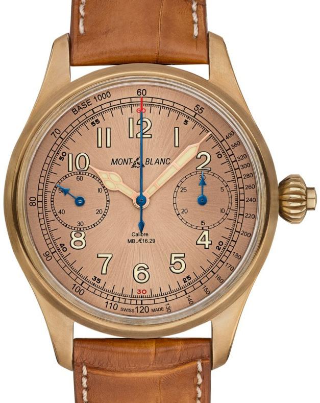 Montblanc 1858 Chronograph Tachymeter édition limitée : effet rétro