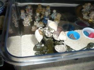 hermit crab totem pole
