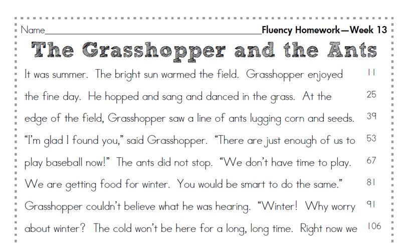 2nd Grade Fluency Homework Second Story Window