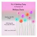Dazzling Daisies Birthday Invitation