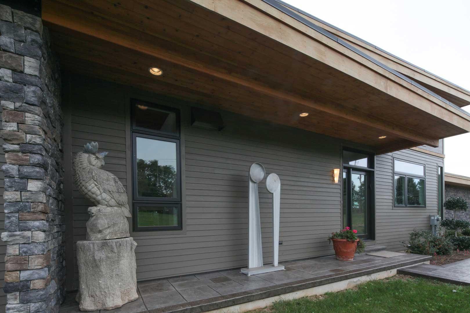 Mid Century Modern Custom Built Home Siding Options Classic Home Improvements