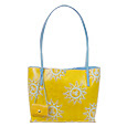 Yellow Sun Leather Bucket Bag