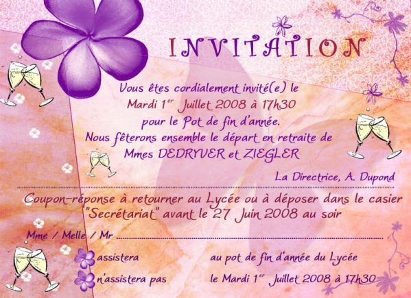 Carte Gratuite Invitation Pot Depart Retraite