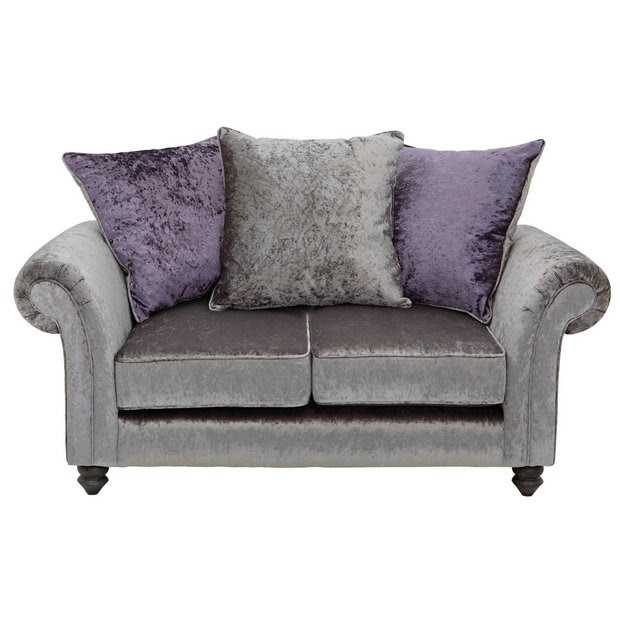 Buy Collection Manhattan 2 Seater Fabric Sofa - Silver at ...