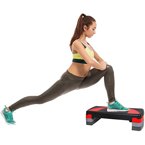 MaxStrength Aerobic Stepper Fitness Exercise Home Gym Yoga Ladies Adjustable Height