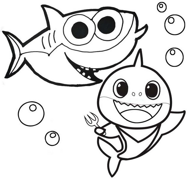 Amazing Baby Shark Coloring Page