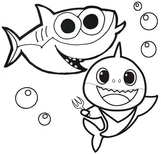 Coloring Pages Baby Shark - FastShareVN