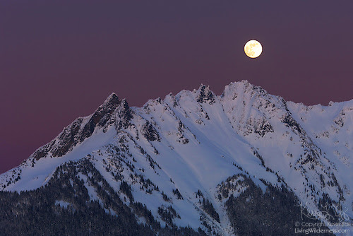 Full Moon Over Nooksack Ridge, North Cascades