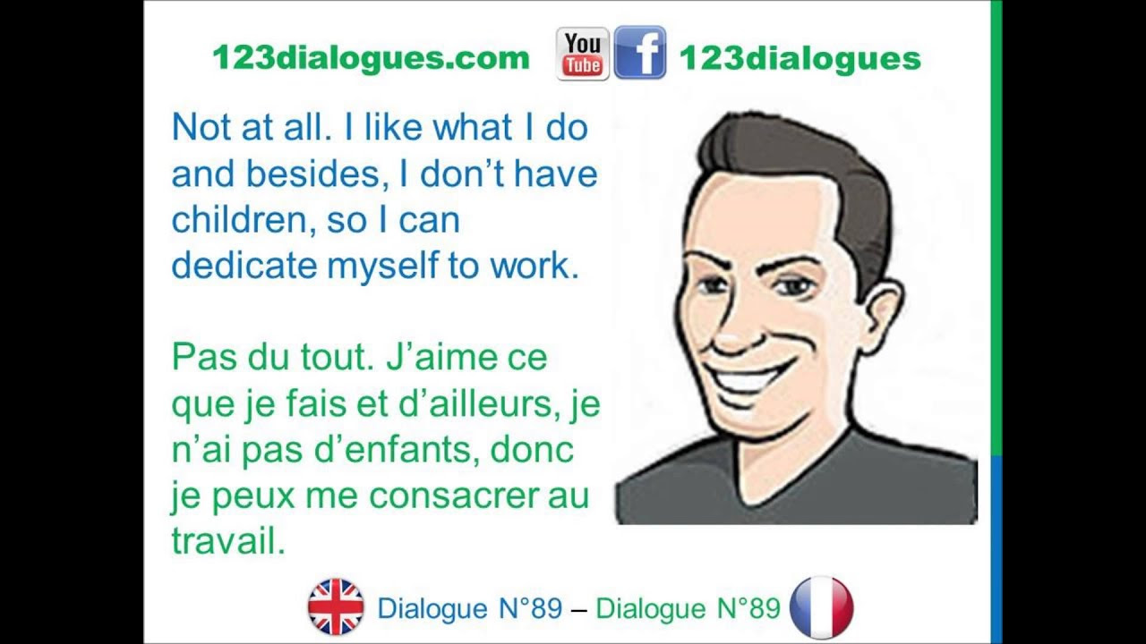 Dialogue 89 - English French Anglais Français - Job ...