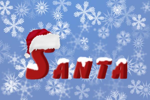 Santa Text Tutorial: Final Result