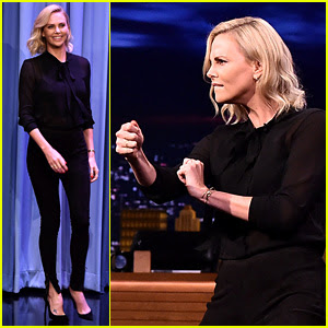 Charlize Theron Performs Random Dance Moves on 'Fallon'