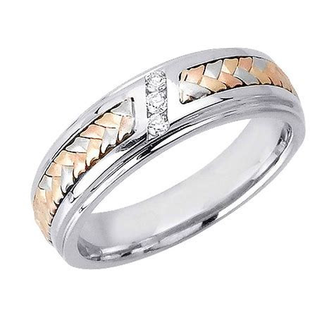 Photo Gallery of Three Color Braided Wedding Bands
