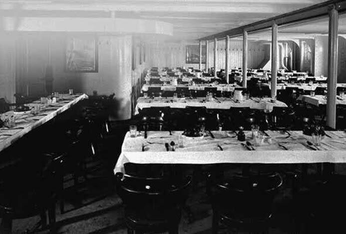 Titanic third class dining room