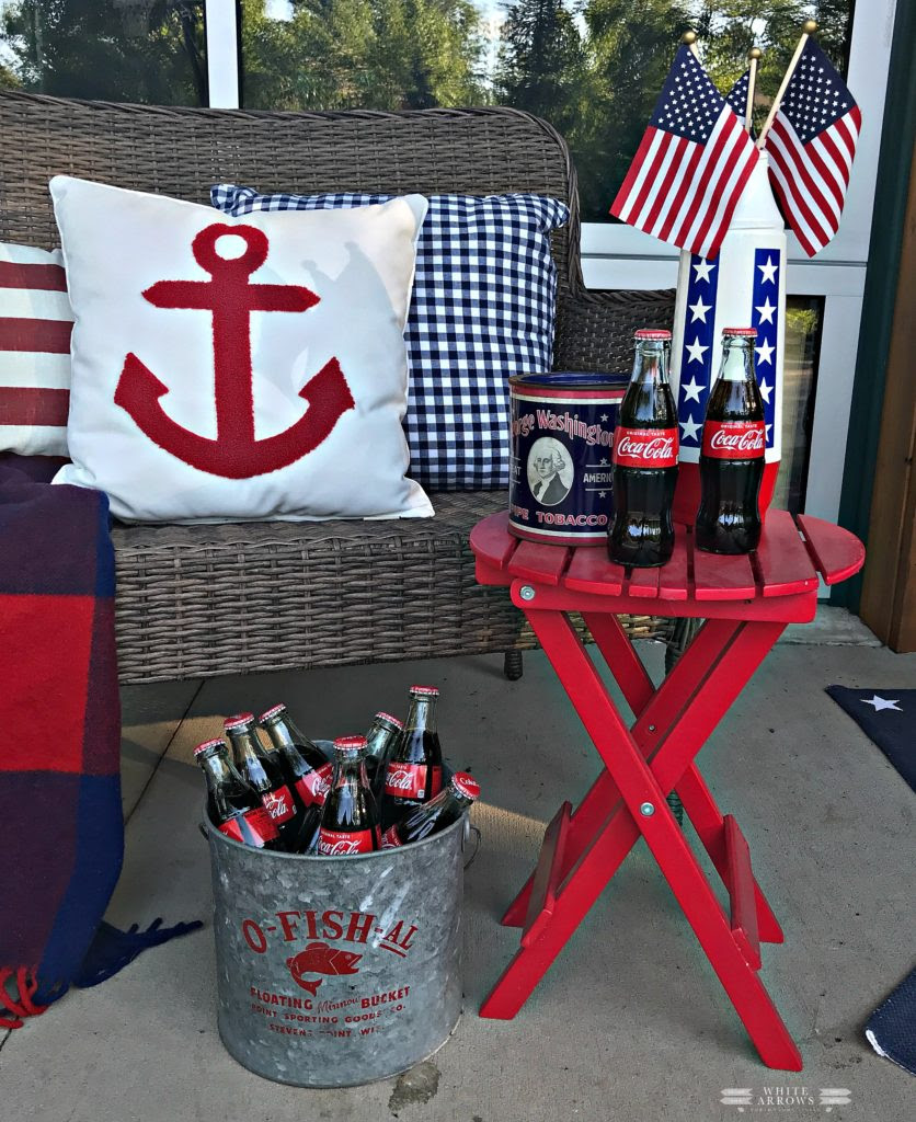 Summer Style- Patriotic Porch Decor ~ White Arrows Home