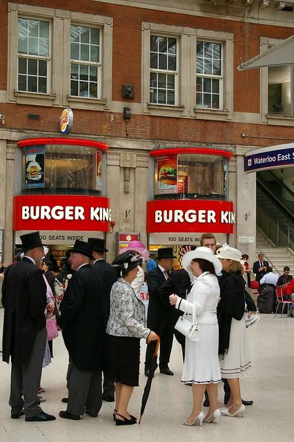 Burger King, Waterloo Station by Mïchael