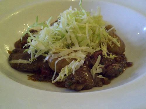 Salad Parisienne - duck liver, confit, potatoes