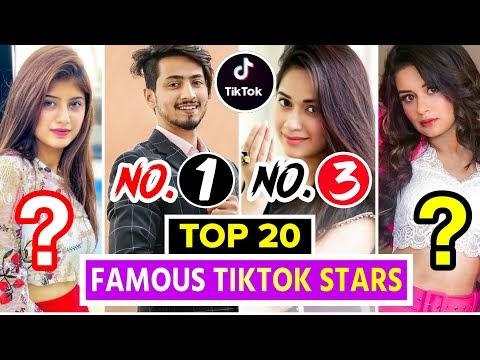 Top 20 Famous TikTok Stars Of India | Top Indian Tiktok Girls & Boys | Tik Tok Stars Name