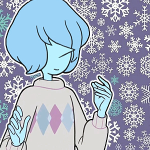 """Blue Pearl and Yellow Pearl Christmas icons "" Inspired by @pearlicopter"