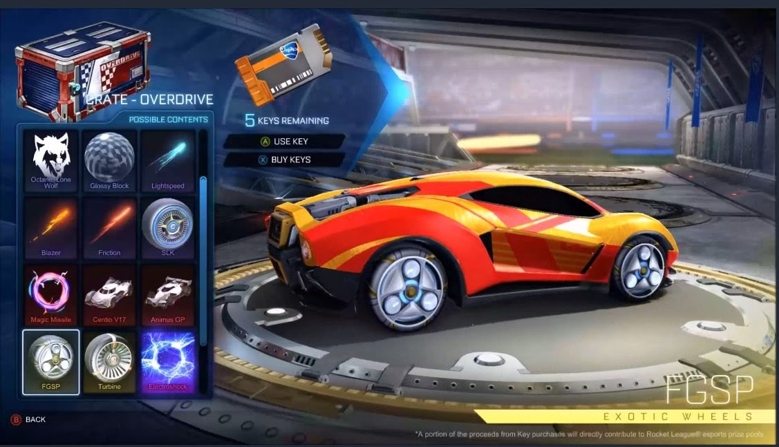 Hell yeah, Rocket League added fidget spinner wheels screenshot
