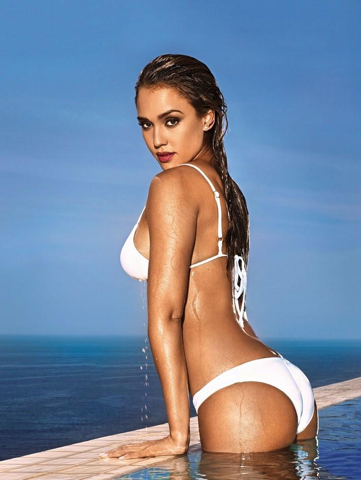 Jessica Alba bikini blanco