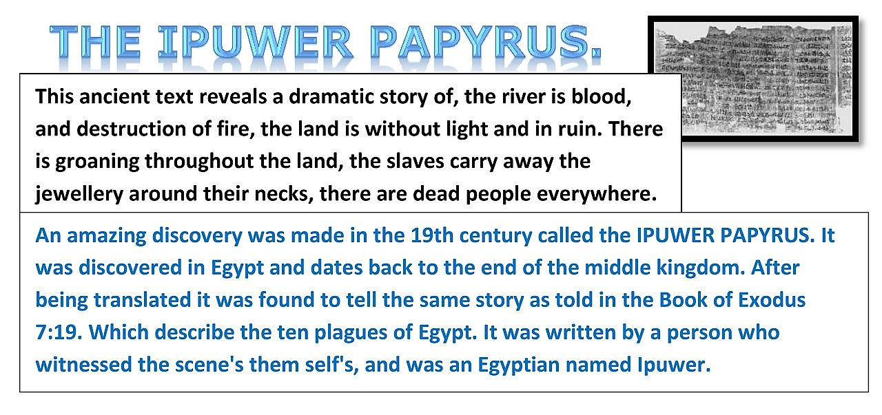 IPUWER PAPYRUS The Ten Plagues of Egypt