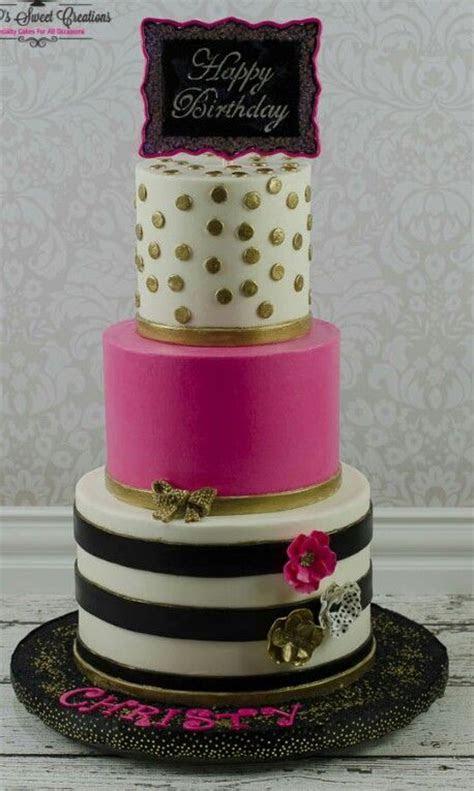 Kate Spade inspired birthday cake   ? F o o d