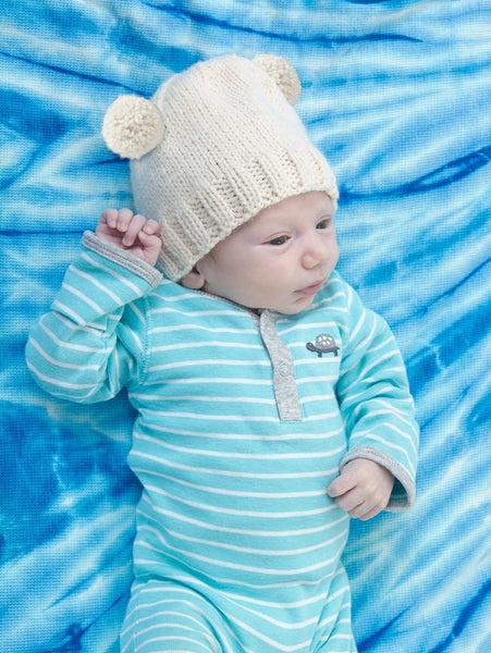 Royal Baby Bear Hat Free Knitting Pattern