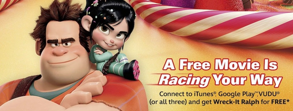 *HOT* FREE Wreck it Ralph Movie Download for VUDU, iTunes or Google Play!