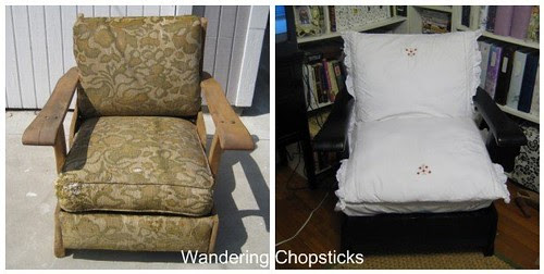 Before and After Wooden Arm Chair 1