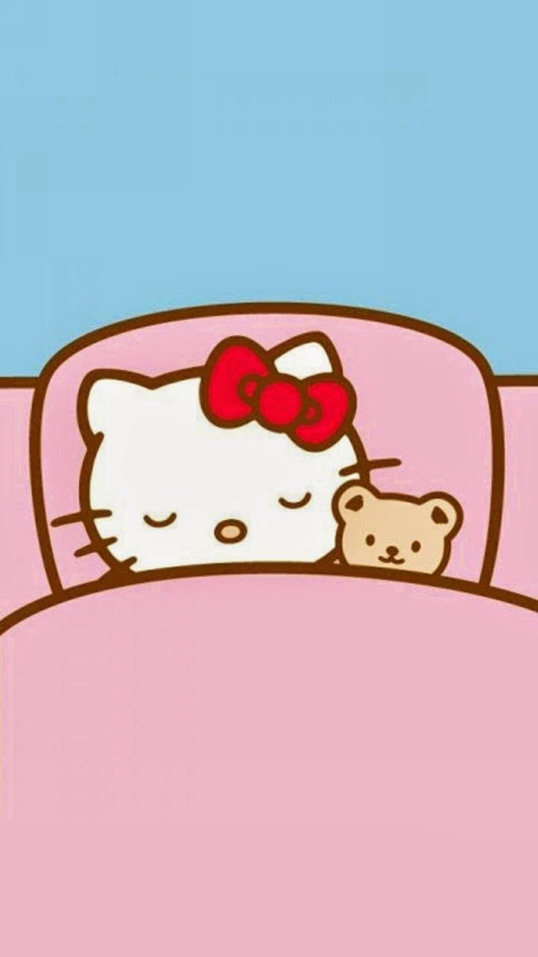 おやすみキティちゃん めちゃ人気 Iphone壁紙dj
