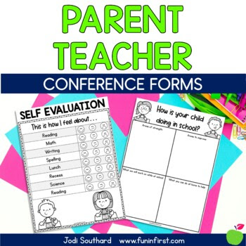 Parent Teacher Conference Forms {FREEBIE}