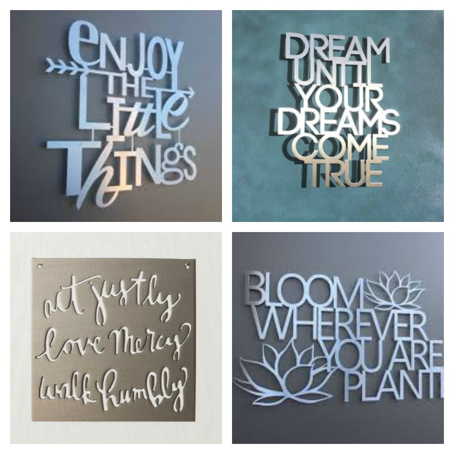 Customized Aluminum Home Decor Signs Giveaway | Finding ...