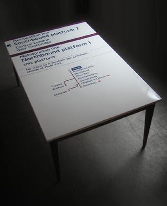 Reclaimed Metropolitan Line Table