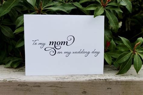 To My MOM On My Wedding Day, Printable, DIY Mother Of The