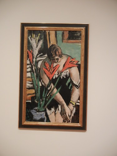 Frau bei der Toilette mit roten und weissen Lilien (Woman at Her Toilette with Red and White Lilies), 1938, Max Beckmann, San Francisco Museum of Modern Art _ 3124