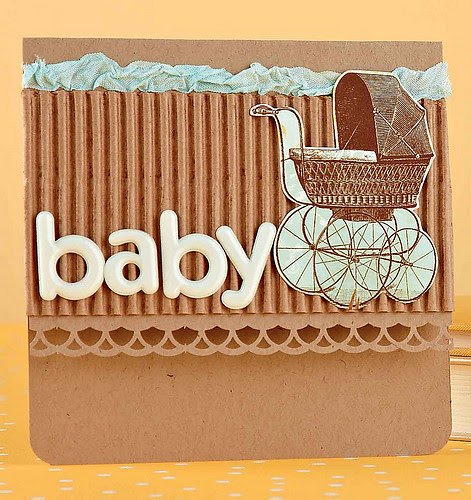 Baby card published in Paper Crafts magazine
