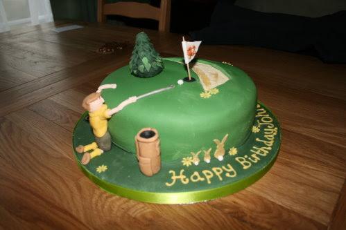 Birthday Cake Shot On Golfing John S 72nd The Village