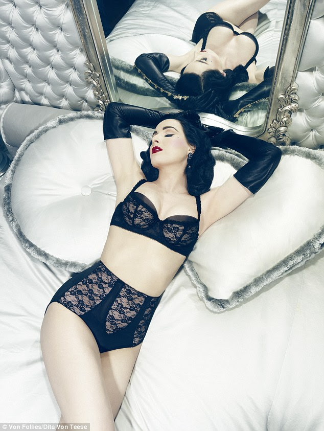 Dita Von Teese, in sexy lingerie inspired dress idea for ...