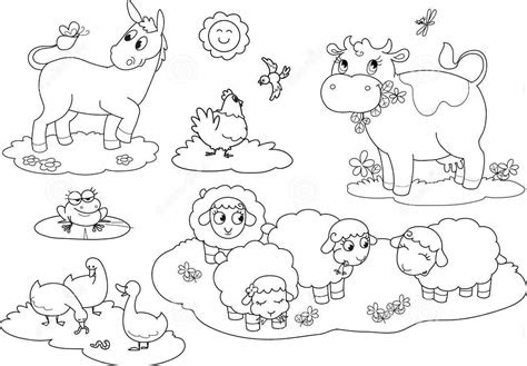 farm animals coloring pages  activity sheets coloring