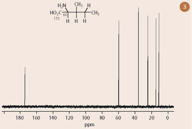 Fig 3 One dimensional 13C-nmr spectrum of isoleucine