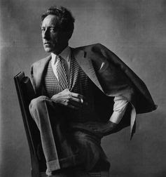 Jean Cocteau in Paris, 1949. Photo: Irving Penn.