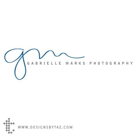 Wedding Photography Logo   Gabrielle Marks Photography
